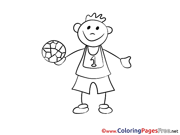 Ball Children Coloring Pages free Player