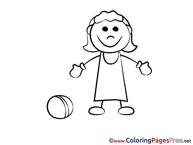 Ball Gym for free Coloring Pages download