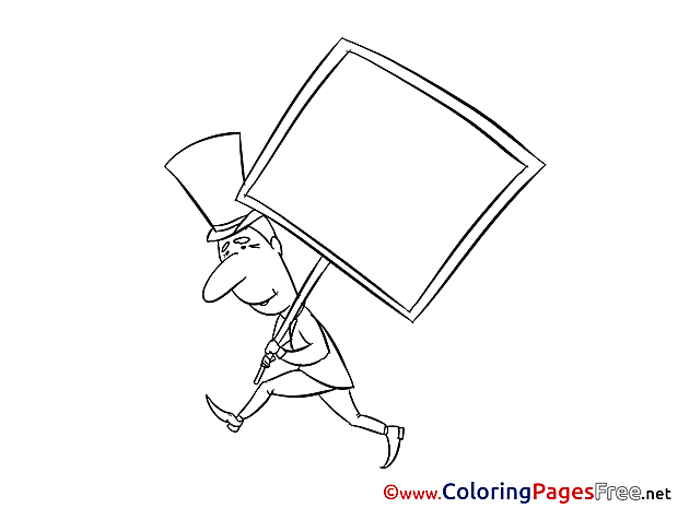 Banner for Kids printable Colouring Page