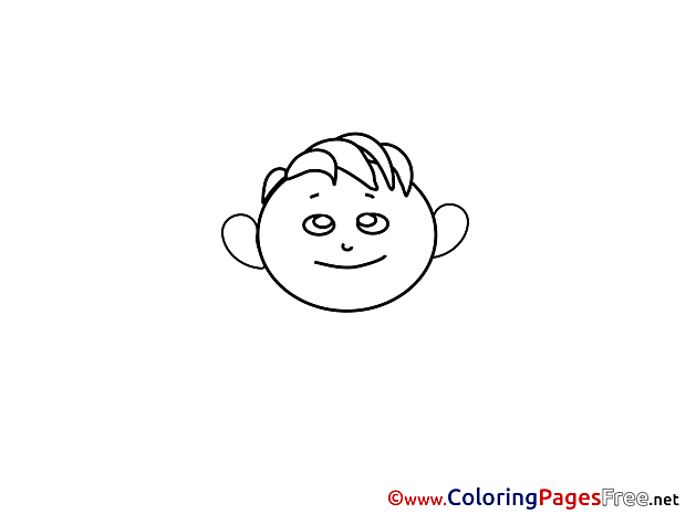 Boy for free Coloring Pages download