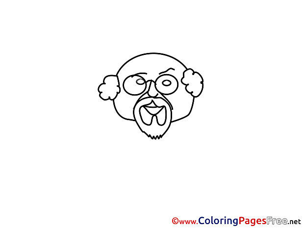 Children Coloring Pages free Grandfather