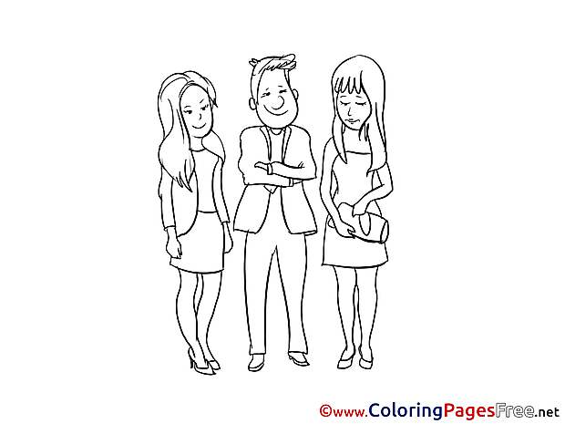 Colleagues Colouring Sheet download free