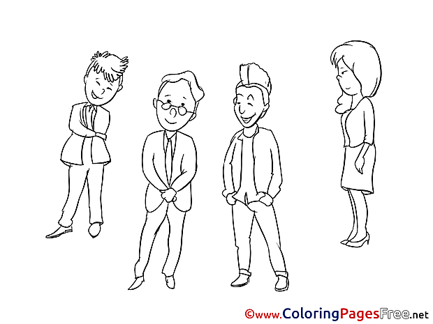 Colleagues download printable Coloring Pages