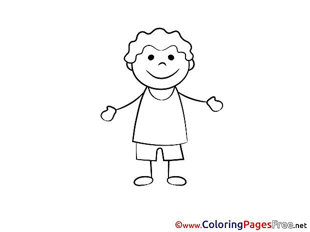 Colouring Page printable free Man