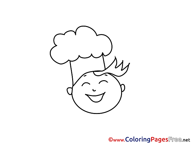 Cook for Kids printable Colouring Page