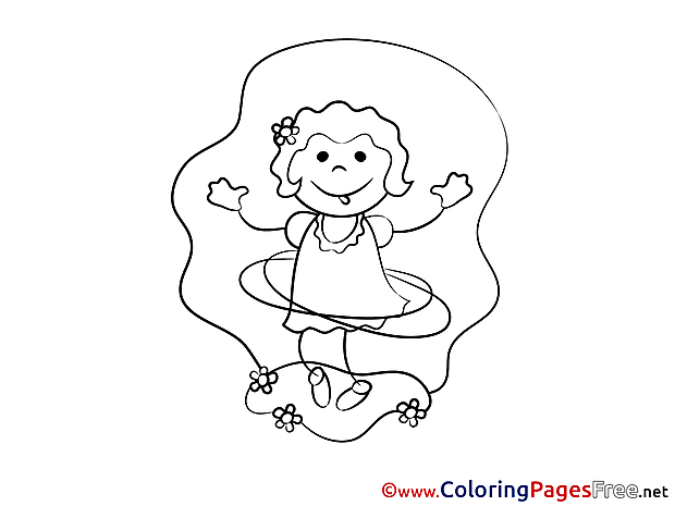 Dancing download Colouring Sheet free