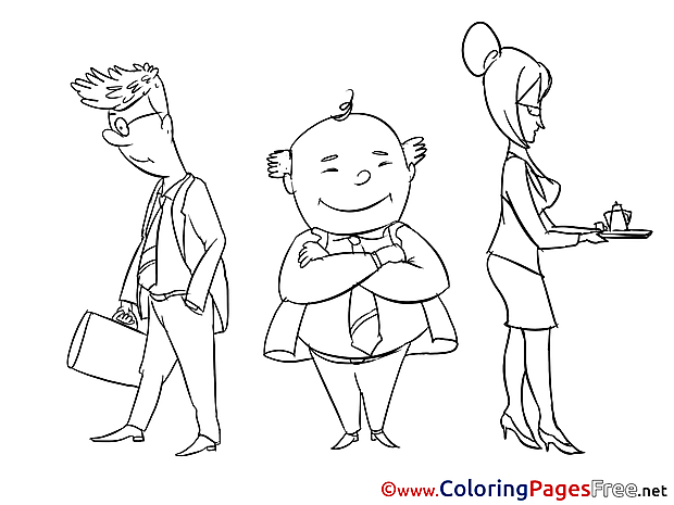Director Children download Colouring Page