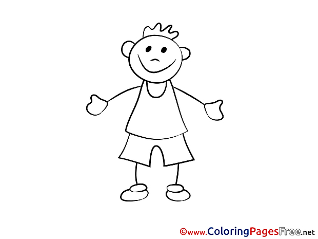 Download printable Coloring Pages Man
