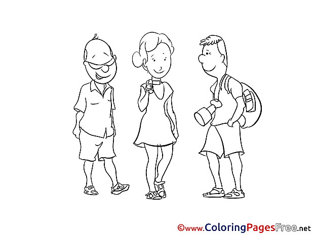 Friends Colouring Sheet download free