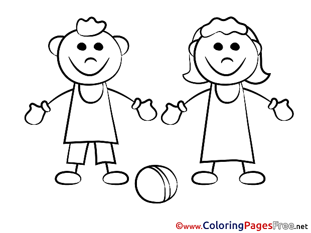 Game Ball for Kids printable Colouring Page
