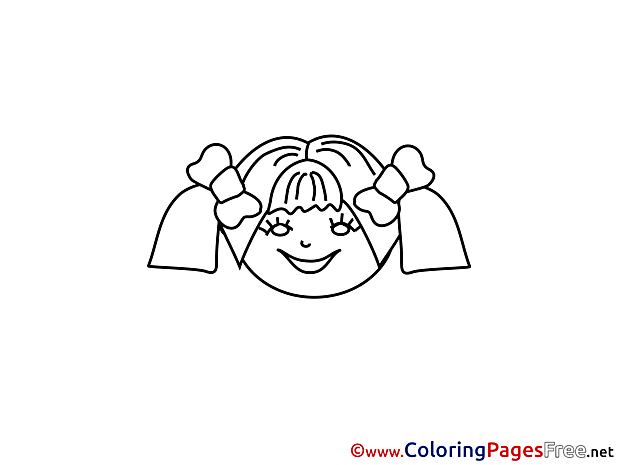 Girl Coloring Sheets download free