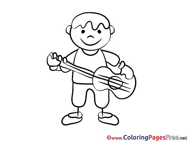 Guitar Coloring Pages for free