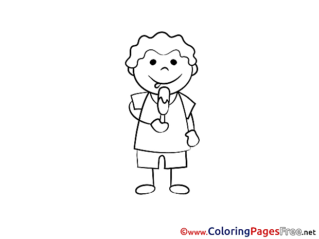 Ice-Cream for Kids printable Colouring Page