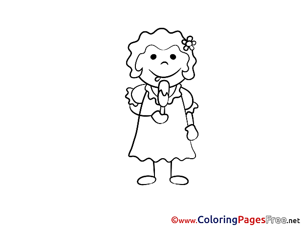 Ice-Cream printable Coloring Pages for free