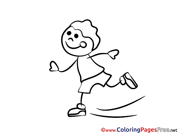 Kids download Coloring Pages Skates