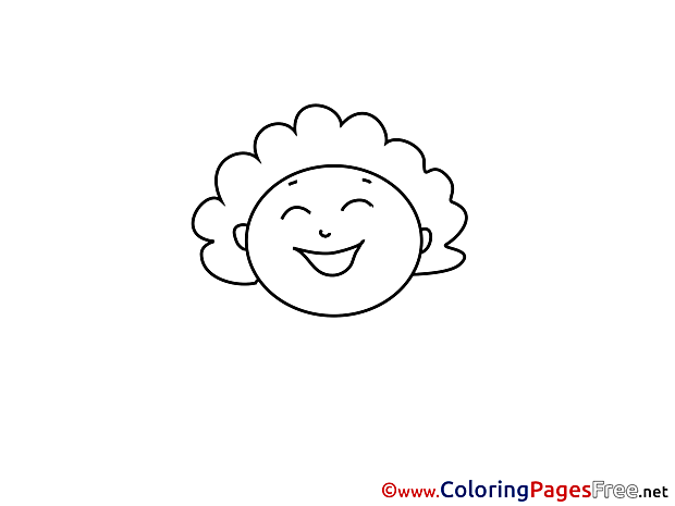 Kids download Coloring Pages Woman