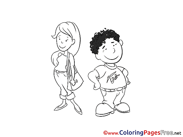 Man and Woman Coloring Pages for free