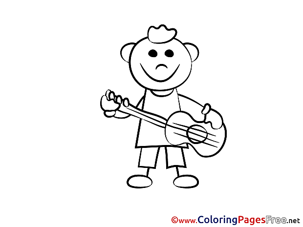 Musician Colouring Page printable free