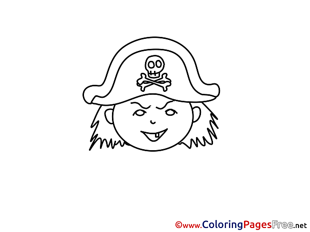 Pirate Children download Colouring Page