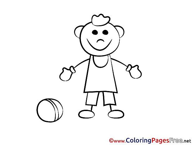 Player Ball Kids free Coloring Page