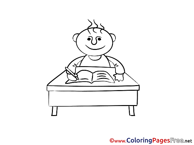 Pupil Coloring Pages for free School