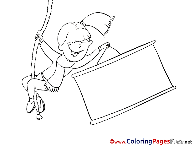 Rope Colouring Page Banner printable free