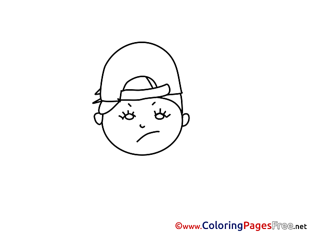Sad Boy printable Coloring Pages for free