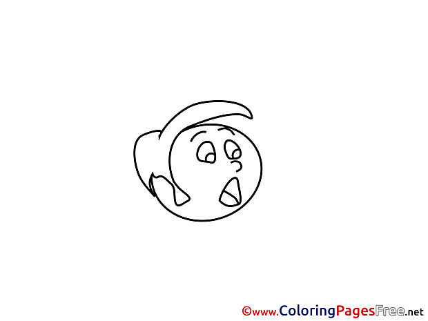 Scared printable Coloring Sheets download