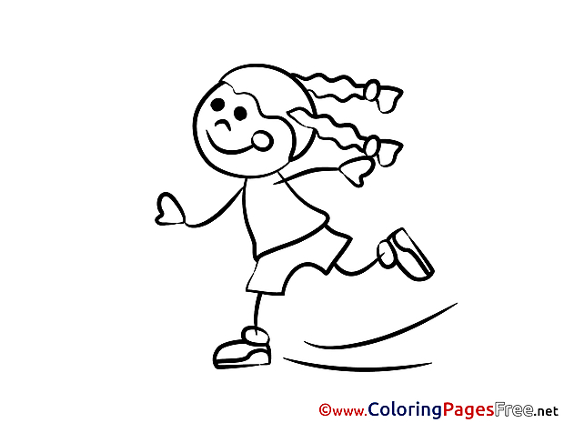 Skates Children Coloring Pages free