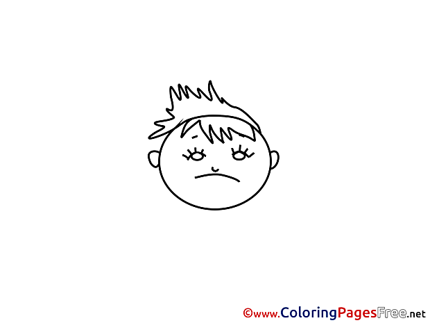 Unhappy Coloring Pages for free