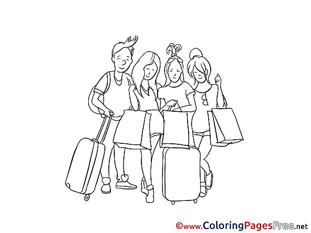 Vacation Coloring Sheets download free