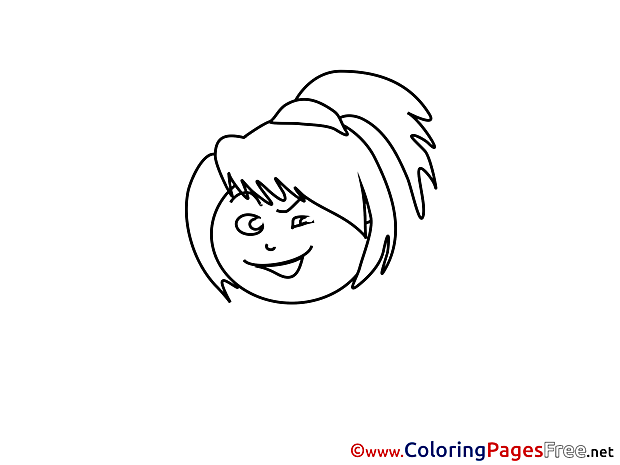 Winging free Colouring Page download