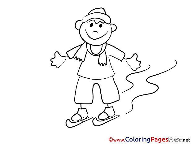 Winter Skates Coloring Sheets download free