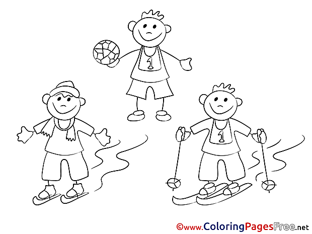 Winter Sport download printable Coloring Pages