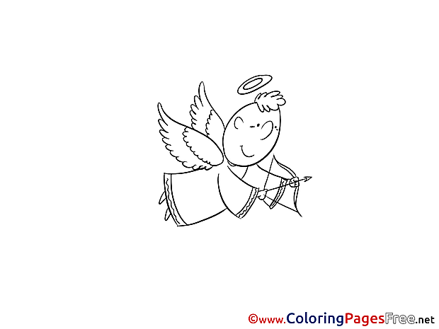 Download Christening Angel Coloring Pages