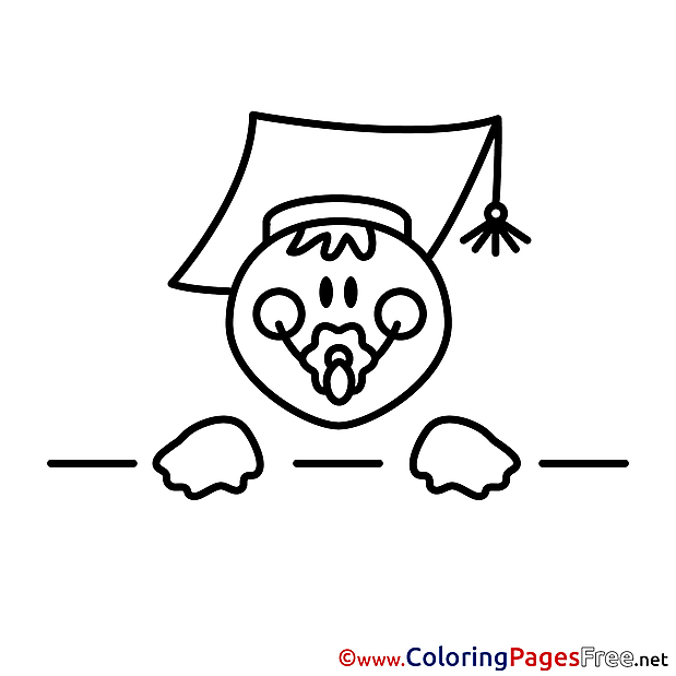Baby School Colouring Sheet download free