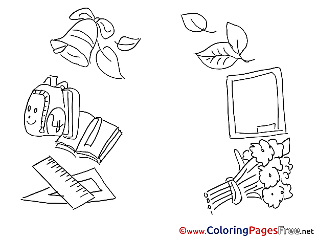 Bell Flowers School Coloring Pages for free