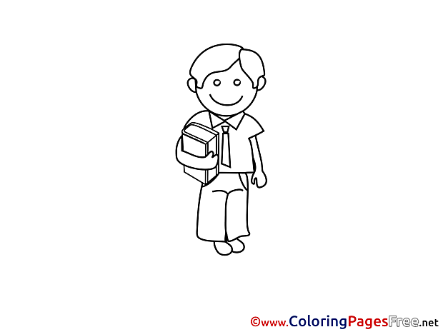 Boy free Colouring Page School download