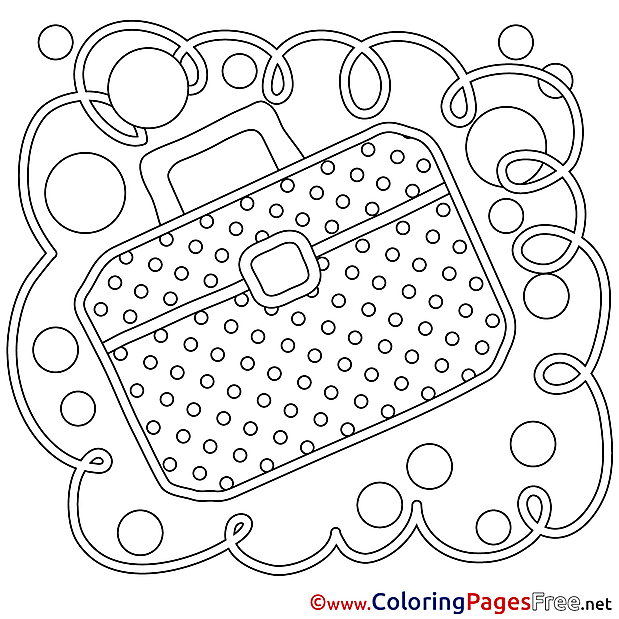Briefcase download printable Coloring Pages