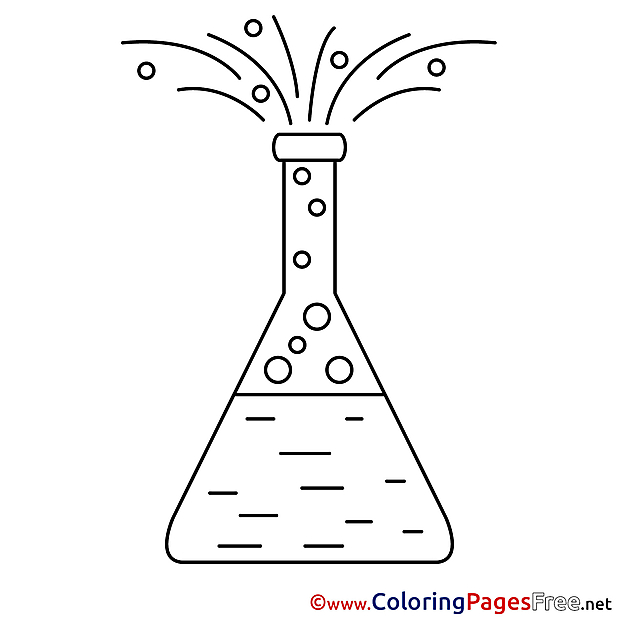 Chemistry Kids free Coloring Page