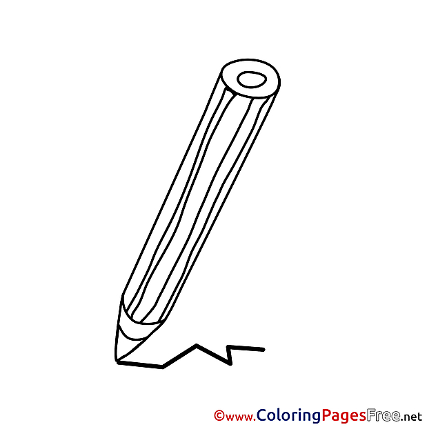 Drawing Pencil free Colouring Page download