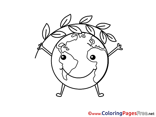 Earth free Colouring Page download