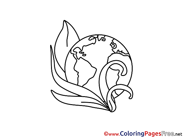 Earth free printable Coloring Sheets
