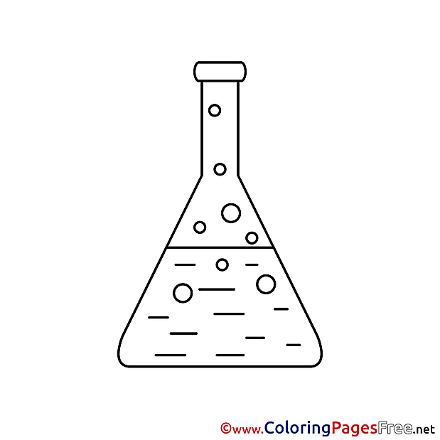 Flask Colouring Sheet Chemistry download free