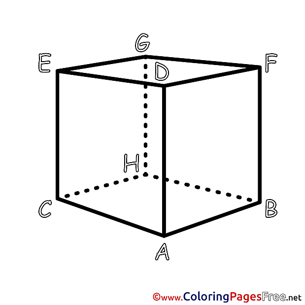 Geometry Cube free printable Coloring Sheets