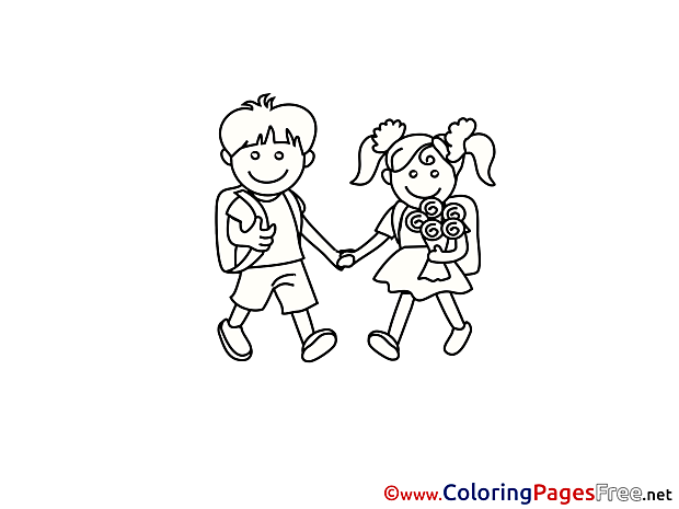 Kids download School Coloring Pages