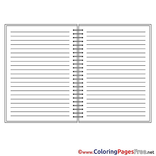 Notebook Kids free Coloring Page