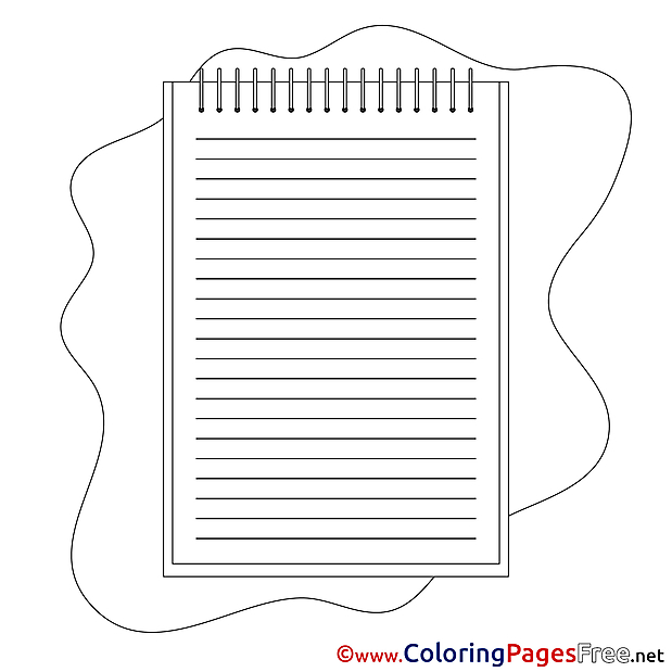 Notepad download Colouring Sheet free
