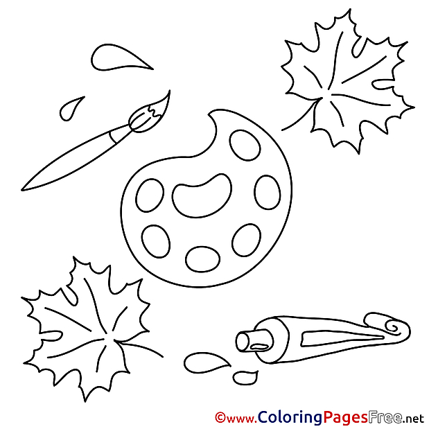 Paints Leaves Coloring Sheets download free