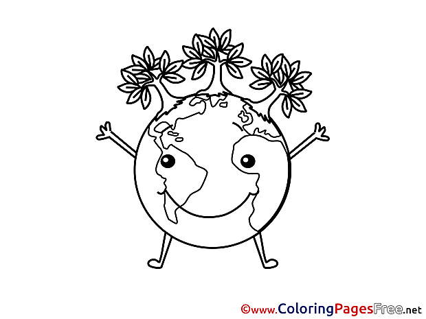 Planet Colouring Sheet download free